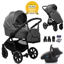 Noordi Fjordi Leather 3in1 + Car Seat - Shadow Grey