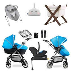Silver Cross Wayfarer Complete Nursery & Travel System Bundle Red