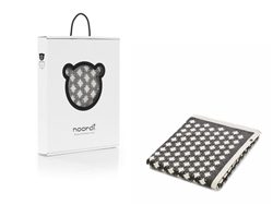 Noordi STAR Cotton Blanket, Grey/White