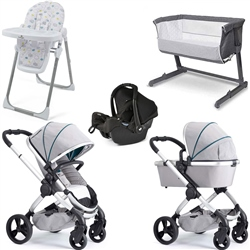 iCandy Peach Travel System & Premium Nursery Bundle