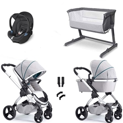 iCandy Peach Combo Travel System & Bedside Crib - Dove Grey