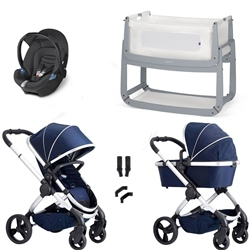 iCandy Peach Combo Travel System & Bedside Crib - Indigo