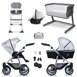 Venicci Silver Spark SE Travel System & Essential Nursery Bundle