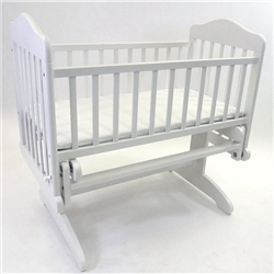 BabyLo Anthea Glider Crib with Safety mattress