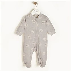 The Bonnie Mob Supermoon - Zip Front Sleepsuit in Grey
