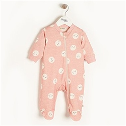 The Bonnie Mob Supermoon - Zip Front Sleepsuit in Pink