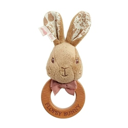 Rainbow Designs Flopsy Rabbit Ring Rattle Toy