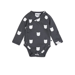Tobias & The Bear Charcoal Bear Long Sleeve Kimono
