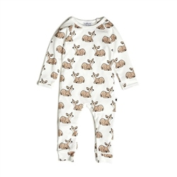 Tobias & The Bear Fawn Long Romper Milk