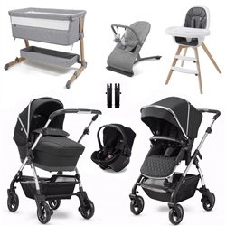 Silver Cross Wayfarer 2020 Premium Travel & Nursery Bundle (Option: Pepper)