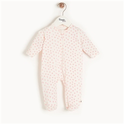 The Bonnie Mob Sleepy Zip Sleepsuit - Pink