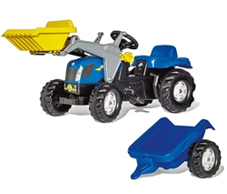 Rolly Toys New Holland Tractor & Trailer & Loader