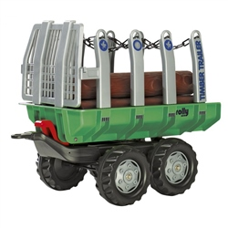 Rolly Toys Twin Axle Trailer With Logs