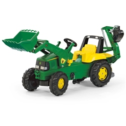 Rolly Toys John Deere Tractor With Loader & Backhoe