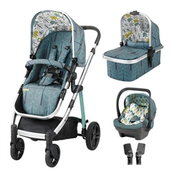 Cosatto Wow Travel System Bundle with Dock iSize car seat