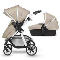 Silver Cross Pioneer Pushchair and Carrycot - Linen (Open Box)