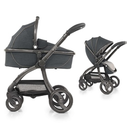 egg Stroller + Carrycot Complete Pram Set - Carbon Grey (Open Box)