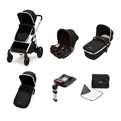 Ickle Bubba Eclipse Travel System with Galaxy Car Seat and Isofix Base