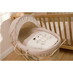 Lollipop Lane Cappuccino Bear  Maize Moses Basket