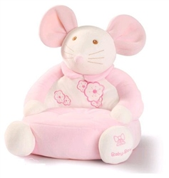 Baby-Bow Mouse Velour Baby Chair