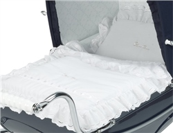 Silver Cross Dolls Pram 3 Piece Bedding set