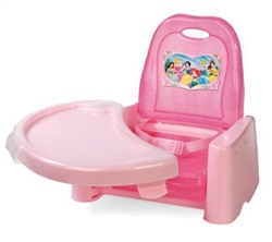 Learning Curve Disney Princess Swing Tray Booster Seat