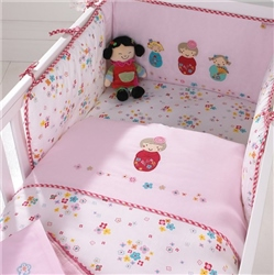 Izziwotnot Cot / Cot bed Bedding Package, Cherry Blossom