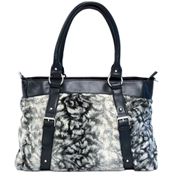 Jane Faux Leather & Fur Changing bag