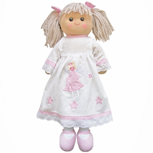 Powell Craft Large Rag Doll Girl with Angel Dress  - Click to view larger image