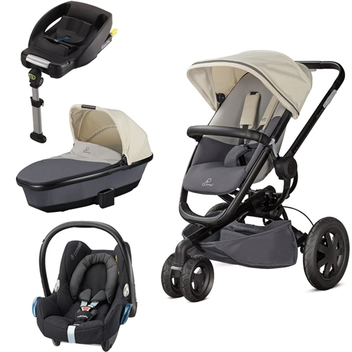 Quinny Buzz Xtra + Foldable Carrycot + Cabriofix + EasyFix Base  - Click to view larger image