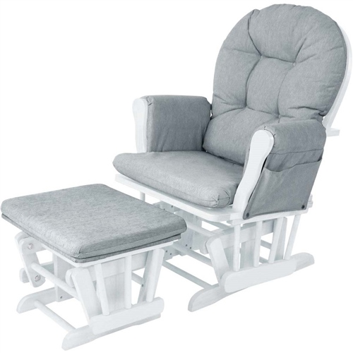 BabyLo Milan Glider Chair & Ottoman  - Click to view larger image