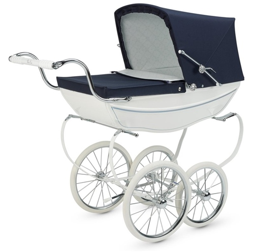 Silver Cross Oberon Dolls Pram White - Click to view larger image
