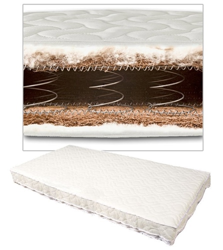 Johnston's - Coconut & Wool Sprung Cot/Cotbed Mattress