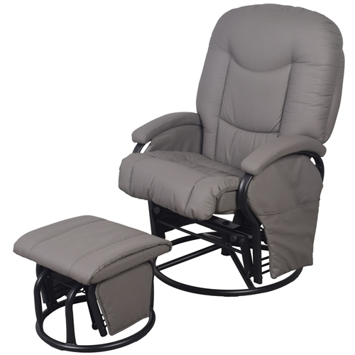 BabyLo Cloud Nine Glider Reclining Chair With Ottoman   Click To View  Larger Image