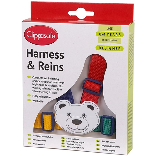 Clippasafe Easy Wash Designer Harness & Reins  - Click to view larger image