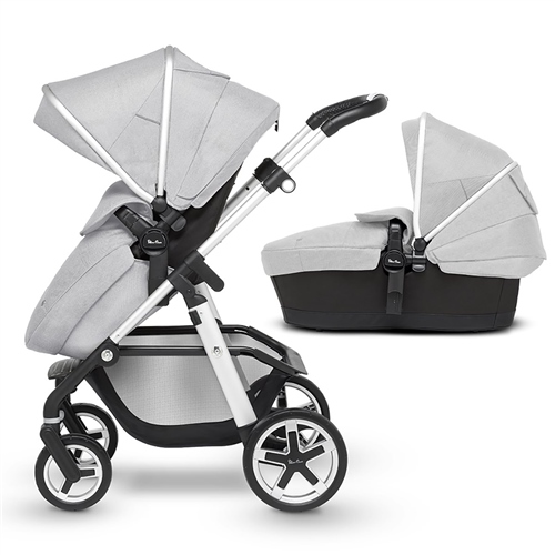Silver Cross Pioneer pushchair and carrycot  - Click to view larger image