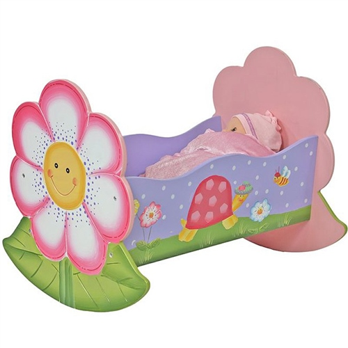 Teamson Magic Garden Dolls Rocking Bed   Click To View Larger Image
