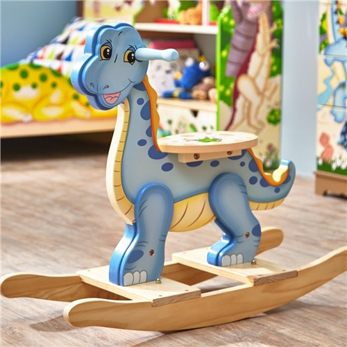 Teamson Wooden Rocking Dinosaur  - Click to view larger image