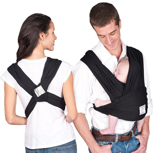 Baby K'tan Cotton Carrier - Black (Medium)