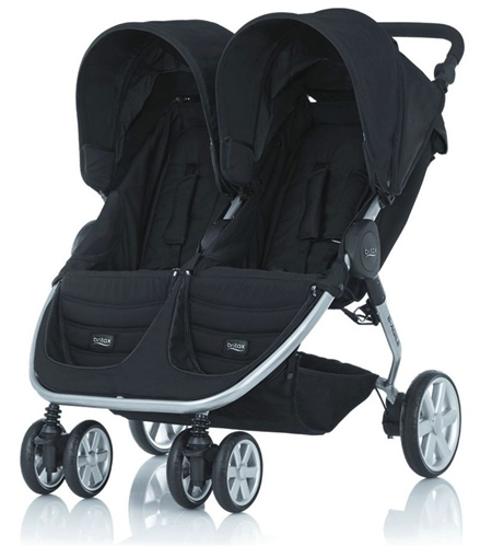 Britax B-Agile Twin Pushchair Neon Black - Click to view larger image