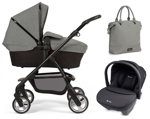 Silver Cross Wayfarer Special Edition + Simplicity Car Seat, Eton Grey  - Click to view larger image