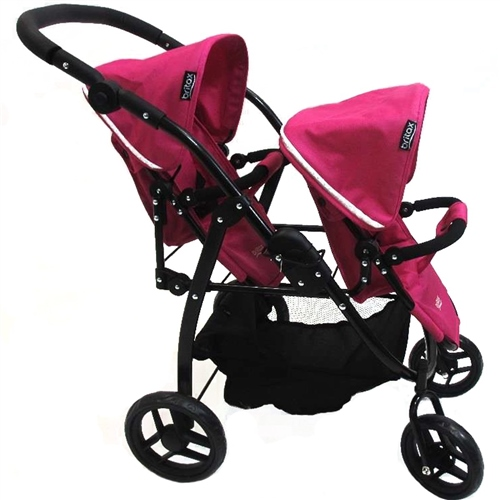 Britax Duo Twin Dolls Buggy - Hot Pink