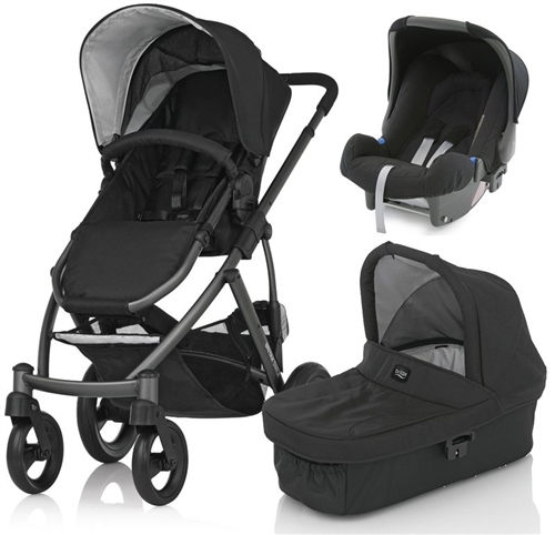 Britax Smile Pushchair  Carrycot  Baby Safe Car Seat