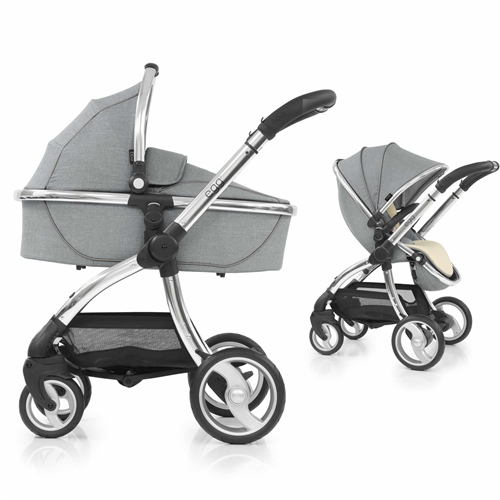 egg Stroller + Carrycot - Platinum