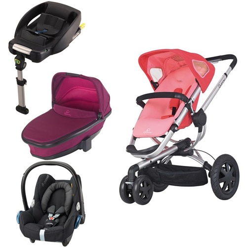 Quinny Buzz 3 + Foldable Carrycot + Cabriofix + Easyfix Base  - Click to view larger image