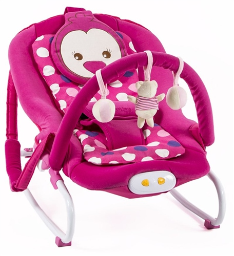 BR Baby Musical Vibrations Rocker - Pink Chick