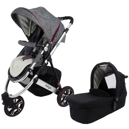 BabyLo Trekker 3 + Carrycot Dark Denim - Click to view larger image