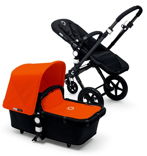Bugaboo Cameleon3 Black/Black Now with leather-look handlebar and carry handle - Click to view larger image