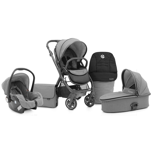 BabyStyle Oyster 2 City Grey + Carrycot + Car Seat + Accessories Oyster 2 City Grey package - Click to view larger image