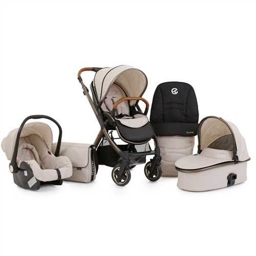 BabyStyle Oyster 2 City Bronze + Carrycot + Car Seat + Accessories City Bronze package - Click to view larger image